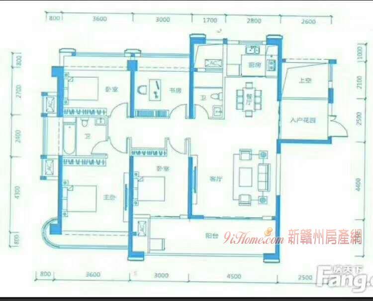 嘉福金融中心4房2厅2卫2阳台,急卖210万_房源展示图5_新赣州房产网