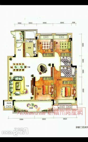 保利中航云府4室2厅2卫洋房大平层送6米高杂间_房源展示图1_新赣州房产网