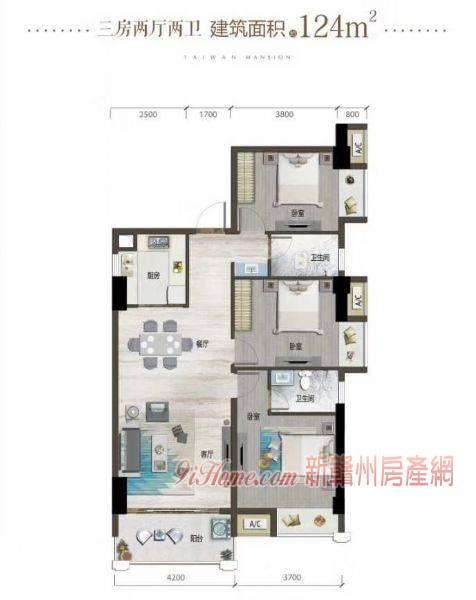 東江源大道124平米3室2廳2衛出售_房源展示圖0_新贛州房產網