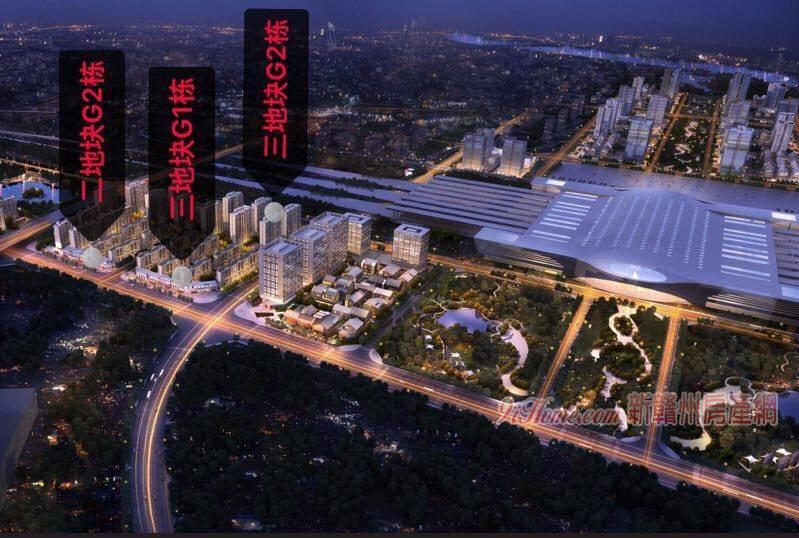 綠地開發,高鐵站門口沿街金鋪,單價一萬八,五千住戶_房源展示圖2_新贛州房產網