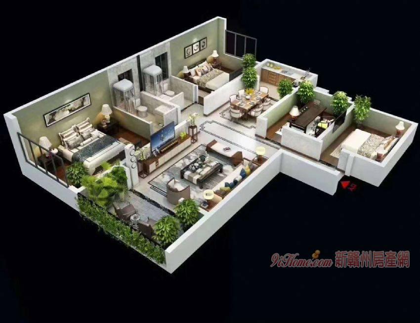 龙城江山144平米4室2厅2卫出售_房源展示图1_新赣州房产网