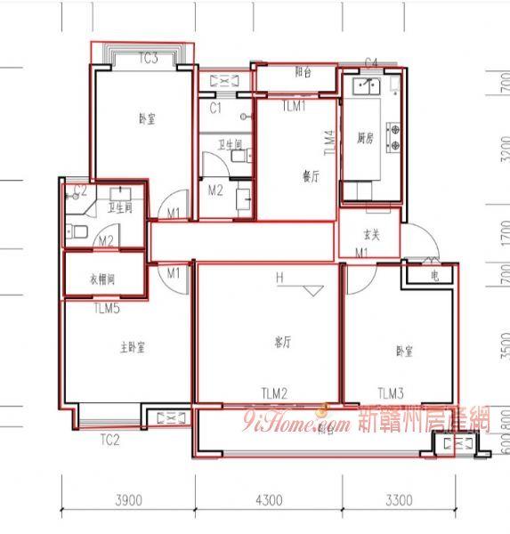 绿地一期现房122平米3室2厅2卫出售_房源展示图2_新赣州房产网
